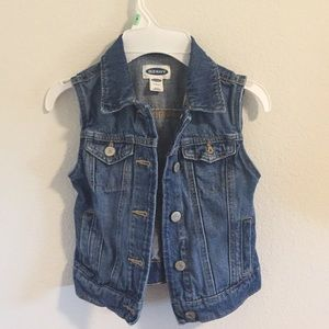 Girls fitted denim vest